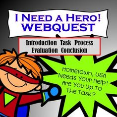 This WEBQUEST will have your students thinking critically, designing, collaborating, and hopefully saving the day for Hometown, USA. This 3-week. highly motivational and engaging, NO PREP activity is great anytime throughout the year! Enjoy!