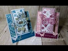 Stamp & Scrap with Frenchie: Fancy Fold  Step Card  Video scroll down