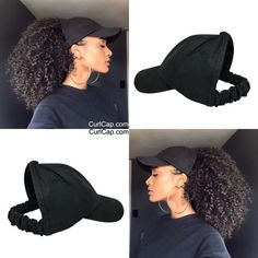 Protective Styles For Natural Hair Discover Satin Lined Baseball Cap Satin bonnet scrunchie hats for natural hair satin hair cap Backless Hat Curl cap Natural Hair Journey, Natural Hair Care, Natural Hair Styles, Natural Beauty, Black Girls Hairstyles, Afro Hairstyles, Layered Hairstyles, Hairstyles 2016, Ladies Hairstyles