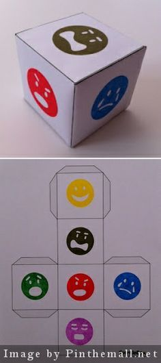 Feelings Dice - I use this activity to work with a young client of mine on identifying and coping with different feelings. You have the child roll the dice and identify the feeling it lands on and a time when he or she felt that way. If you want to get more in-depth, you can also ask your client to tell how he or she dealt with that emotion and what he or she could have done better.