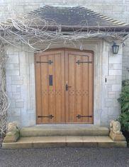 Refurbished Oak front door