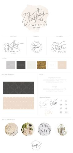 New Brand Launch: Whiskey & White Events - Raleigh, NC - Salted Ink Design Co.