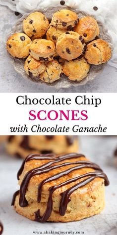 These Chocolate Chip Scones make the perfect afternoon tea treat recipe. This Scones Recipe with Chocolate Chip and Dark Chocolate Ganache drizzle is the perfect sweet treat to enjoy as your breakfast, with your mornings tea or afternoon tea or to serve at your next tea party. The easy double chocolate scones are soft, flaky, rich and indulgent and yet super light! Frozen Chocolate, Delicious Chocolate, Chocolate Ganache, Cooking Chocolate, Chocolate Chip Recipes, How To Make Scones, Afternoon Tea Recipes, Scones Ingredients, Biscuit Recipe