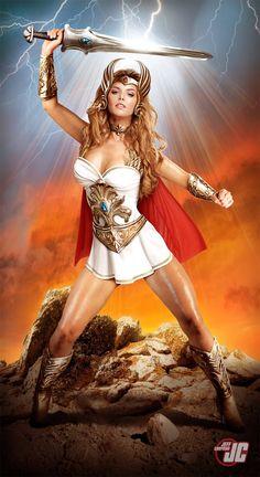She-Ra, Princess of Power Cosplay by Jeff Chapman Jeff Chapman, Warrior Girl, Warrior Princess, Hee Man, Batman Christian Bale, Mode Costume, She Ra Costume, Female Superhero, Female Hero
