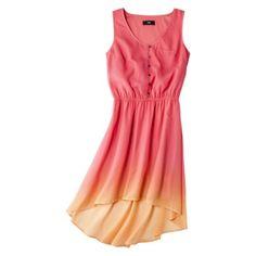 Mossimo Women's Sleeveless Hi-Lo Woven Dress - Bright Coral XL