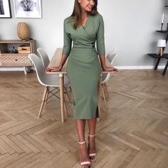 Add a dose of style to your 9 to 5 schedule with these cute summer work outfits and look incredible wether your office is super-casual or all-business. Gothic Home, Fashion Wear, Women's Fashion Dresses, Dress Outfits, Work Fashion, Fashion Blouses, Office Fashion, Modest Outfits, Under Dress