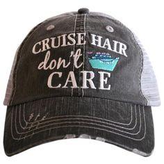 """Cruise Hair Don't Care"" Trucker Hat"