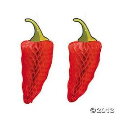 Chili Pepper Tissue Decorations - Oriental Trading...these are red hot reads!!!
