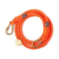 Found My Animal Adjustable Rope Leash Orange