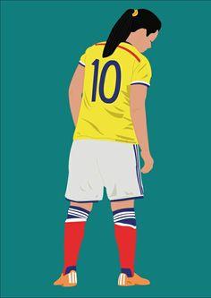 #yoreli #rincon #futbol #femenino #capitana #soccer #ilustracion #illustration #vector #art #colombia #seleccion #selecccioncolombia Ronald Mcdonald, Soccer, Ballet, Football, Dragon, Sari, Fictional Characters, Graphics, Tops