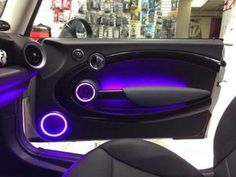 Mini door lighting #audio #audio #coche Bmw Interior, Custom Car Interior, Truck Interior, Custom Car Audio, Custom Cars, Car Audio Installation, Car Audio Systems, Car Sounds, Car Goals