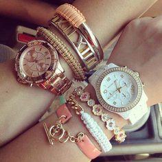 # Reloj # Cursi # Fashion # Pulseras <3 Solo Chiicas ...