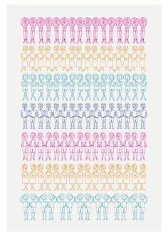 NEW  Duplicated Friends Print. $25.00, via Etsy.