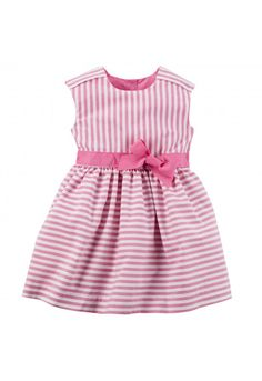 Платье Carter's Striped Poplin Dress Артикул: TG-V_251G058+Pink