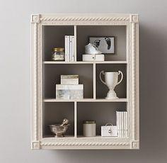 Hand-Carved Display Shelf