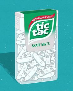 Everyone\'s first trick, right? #tictac #skate #hackettillustration #illustration Tic Tac
