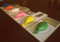 sensory balloon with matching cards. great for teaching 5 senses to preschoolers or keeping toddler hands busy!