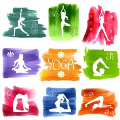 Poster of illustration of woman doing Yoga for International Yoga Day , , , Source by alekra_. Chakras, Yoga Sequences, Yoga Poses, Yoga Day Quotes, Happy Yoga Day, Yoga Background, World Yoga Day, Happy International Yoga Day, Mudras