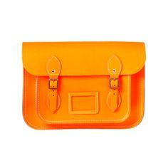 Fluro orange cambridge satchel backpack