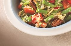 featured recipe from Chef Feenie& new book - Quinoa Salad - Cactus Club Cafe Healthy Salad Recipes, Real Food Recipes, Chicken Recipes, Vegan Recipes, Cooking Recipes, Easy Recipes, Clean Eating, Healthy Eating, Green Beans And Tomatoes