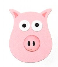 Pig made using the owl punch. Same site has a cute penguin using the owl punch too.