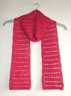 Looking for a reversible knit scarf pattern in a lovely stitch design? This simple yet stylish lacy scarf pattern is perfect for those spring days that require a bit of extra layering. Knit Or Crochet, Crochet Scarves, Lace Knitting, Knitting Patterns Free, Knit Patterns, Knitting Scarves, Free Pattern, Scarf Knit, Crochet Baby