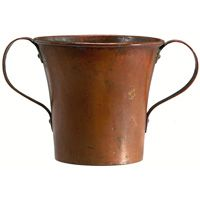 Good Stickley Brothers vase, hammered copper
