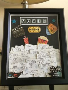 Ticket Shadow Box By ThatsTotallyTara On Etsy Movie Storage Diy Stubs