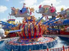 The news and improved as Dumbo the Flying Elephant ride complete with indoor play place to occupy children while they wait for their turn! Genius..
