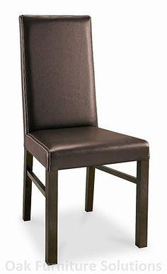 Lyon Walnut Standard Faux Leather Dining Chair - Brown is a quality leather dining chair and is part of the extensive range of Lyon Walnut dining furniture. Brown Leather Chairs, Faux Leather Dining Chairs, Walnut Furniture, Dining Furniture, Bentley Design, Lyon, Modern Design, Home Decor, Decoration Home