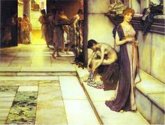 lawrence alma-tadema | An Apodyterium -Sir Lawrence Alma-Tadema Painting | Famous Painters