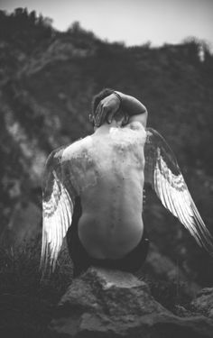 On the other hand my burnt wings still haunted me. Like humans who had lost a limb I had frequent phantom pains. Angels Among Us, Angels And Demons, Mini Mundo, Male Angels, Angel Man, Dark Wings, Angel Aesthetic, Ange Demon, Broken Wings