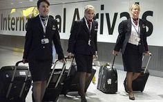 British Airways cabin crew at LHR