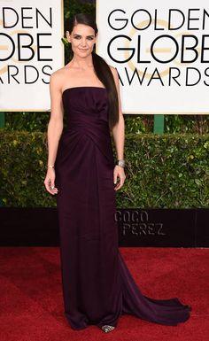 Golden Globes 2015: Katie Holmes walks the red carpet.