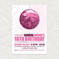 Birthday party dance invitation idea...