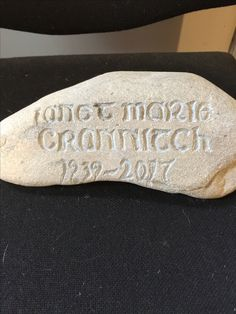 A stone carving don't fir a friend to mark where his mothers ashes were scattered.  It's NZ sandstone (I think) from the Pareora River in South Canterbury and hand carved with a Dremel.