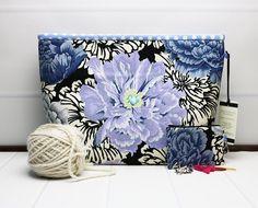 Crochet Project Bag - Knitting Project Bag - Knitting Wedge Bag - Craft Storage Bag - Yarn Tote Bag - Yarn Project Holder - Kaffe Fassett by TalfourdJones on Etsy