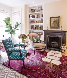 Annie Elliott Bossy Color Provided Interior Design Services And Decorating For This Traditional Victorian Home On Capitol Hill