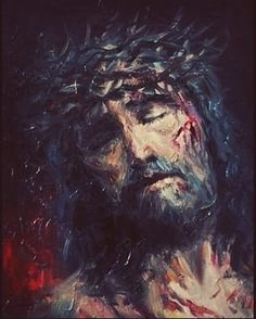 My spirit is broken, my days finished, my burial at hand. Surely mockers surround me, at their provocation, my eyes grow dim. Jesus Our Savior, Jesus Art, Jesus Is Lord, Religious Paintings, Religious Art, Jesus E Maria, Christian Artwork, Jesus Painting, Cross Art