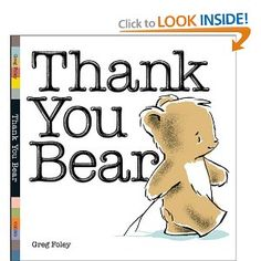 Thank You Bear...cute story and a lesson learned
