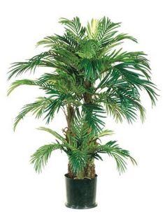 4-PHOENIX-TRIPLE-PALM-ARTIFICIAL-TREE-SILK-PLANT-BUSH-DECOR-POTTED-HOME-DECOR