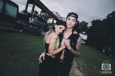 Andy Biersack and Juliet Simms Warped Tour 2015. They married this weekend guys! :)