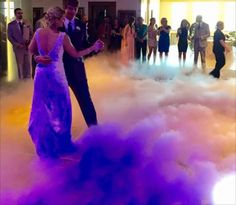 Use a fog machine at the wedding