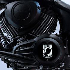 Indian 111 Engine POW/MIA Derby / Primary Cover - Modern Black