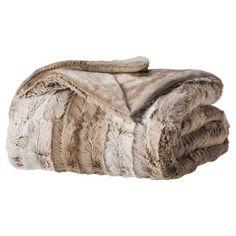Brown Ombre fur blanket