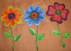 Percheros Flores (En metal)