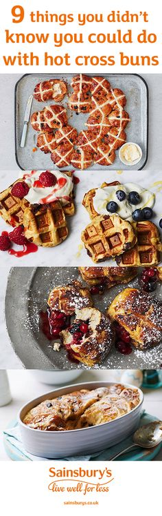 Make your Easter a hot-cross-bun-filled celebration with these 9 hot cross bun recipes with a twist. Expect the unexpected, including fluffy hot cross scones, decadent bun and butter pudding, hot cross bun waffles, savoury hot cross buns with bacon and Chetna Makan's Indian-inspired cardamom hot cross bun French toast.