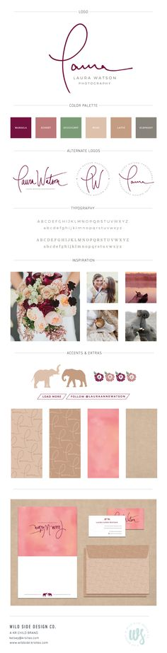 Brand Launch | Brand Style Board | Wedding and Lifestyle Photographer Branding | Laura Watson Photography Brand Design by Wild Side Design Co. | #branding www.wildside.krsites.com
