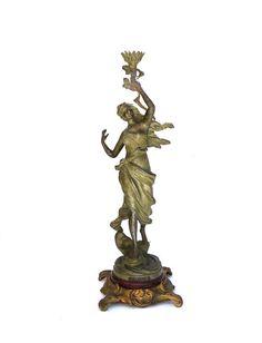 Antique French Art Nouveau Spelter elegant mademoiselle £285 https://www.etsy.com/shop/Retrocollects