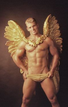 angel wings sexy hot male man gay muscles hunk horny